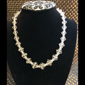 Jewelry - Vintage Multi Facet Clear Crystal Necklace